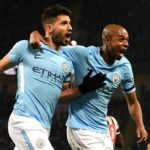 Sergio Aguero celebrates 11th Man City hat-trick