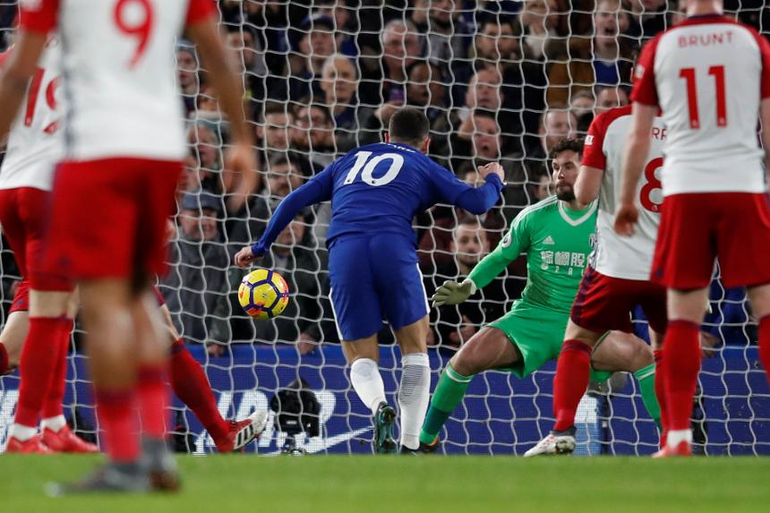 Hazard double returns Chelsea to fourth