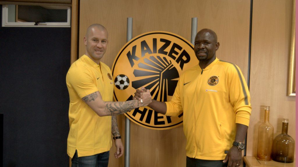 Lee Baxter with Steve Komphela