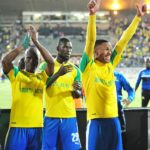 Asavela Mbekile and Thabo Nthethe of Mamelodi Sundowns