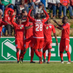 Free State Stars celebrating their winning goal against Chippa