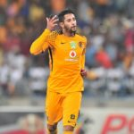 Leonardo Castro of Kaizer Chiefs celebrates his goal.