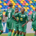 Bloemfontein Celtic celebrating their goal against Richards Bay