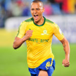 Wayne Arendse celebrates his goal against Rayon Sports