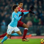 Manchester City's Leroy Sane in action against Liverpool's Joel Matip