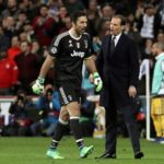 Juventus' goalkeeper Gianluigi Buffon and Juventus' head coach Massimiliano Allegri