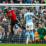 Manchester United's Paul Pogba scores his side's second goal against Manchester City.
