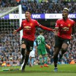 Manchester United's Chris Smalling celebrates scoring his side's third goal of the game.
