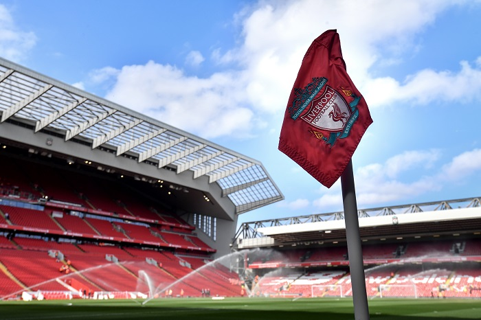 General view of Anfield Stadium.