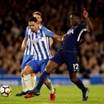 Tottenham Hotspur's Victor Wanyama and Brighton & Hove Albion's Beram Kayal battle for the ball.
