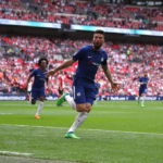 Olivier Giroud celebrates scoring against Southampton