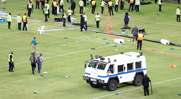 Chiefs fans caused R2.6 million rand worth of damages at the Moses Mabhida Stadium on Saturday.