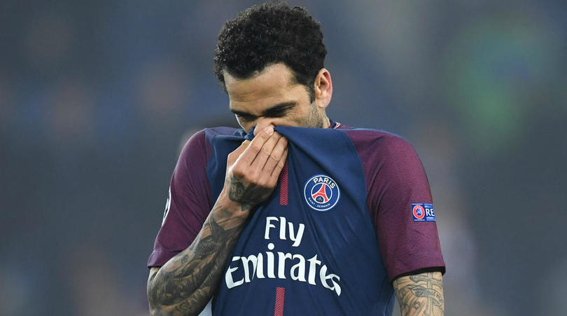 Paris Saint-Germain full back Dani Alves