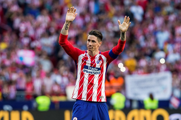 Atletico de Madrid fans pay tribute to Spanish forward Fernando Torres after his last game for the club.