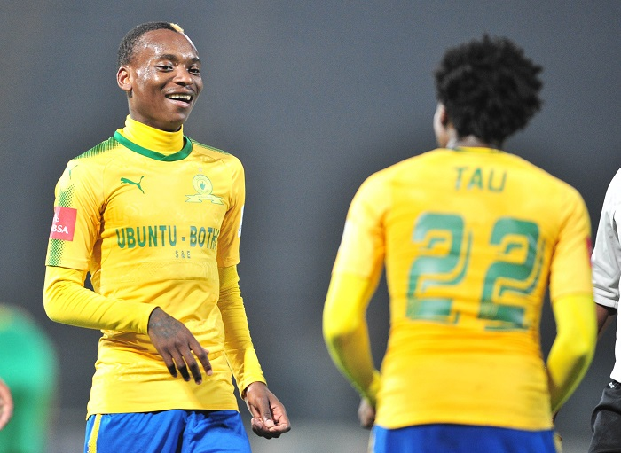 Percy Tau and Khama Billiat of Mamelodi Sundowns.