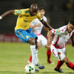 Hlompho Kekana challenged by Amin Tighazoui