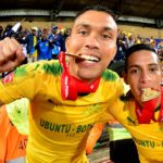 Mamelodi Sundowns South Americans Ricardo Nascimento and Gaston Sirino.