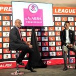 Luxolo September (PSL) and Teko Modise of Cape Town City during the PSL Awards Nominations at PSL Offices.
