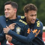 Brazil's Neymar Jr and Philippe Coutinho.