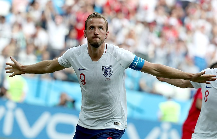 Harry Kane of England leads the race for the Golden Boot.
