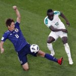 Sadio Mane of Senegal and Genki Haraguchi of Japan.