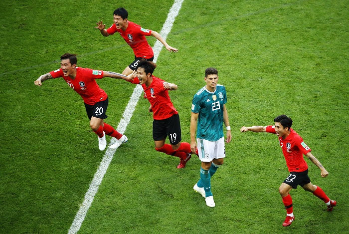 South Korea have provided the biggest World Cup shock so far by knocking out Germany.