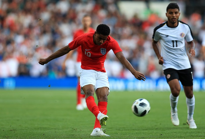 England forward Marcus Rashford.