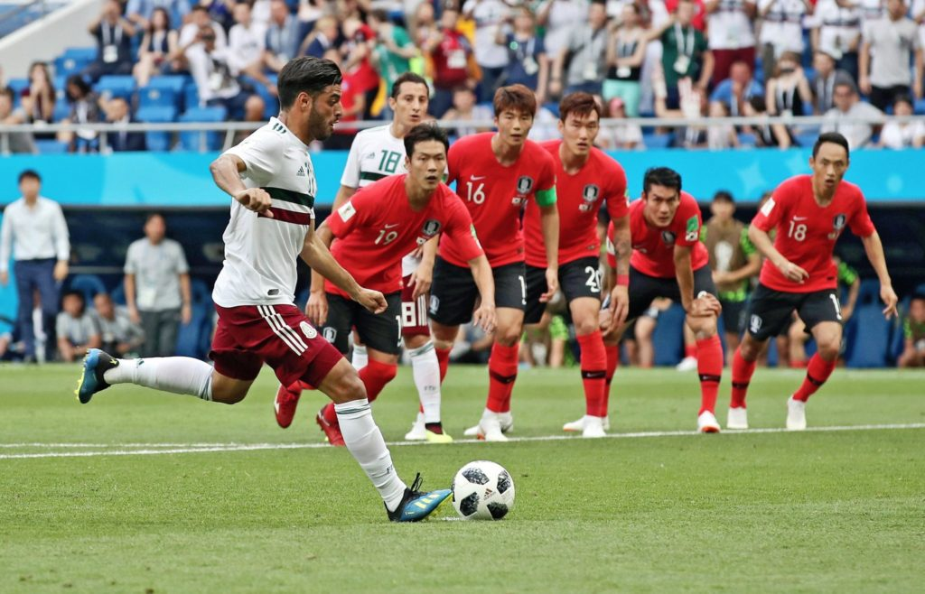Carlos Vela converts from the penalty spot