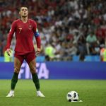 Cristiano Ronaldo steps up to take a free kick