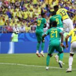 Yerry Mina gives Colombia the lead