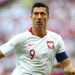 Polish striker Robert Lewandowski