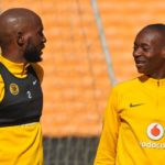 Khama Billiat and Ramahlwe 'Rama' Mphahlele of Kaizer Chiefs.