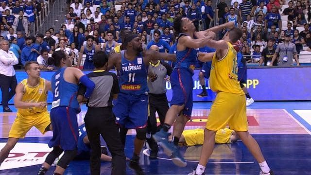 Watch: Huge basketball brawl