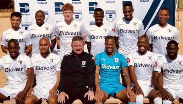 Gavin Hunt and the 11 new Bidvest Wits signings.