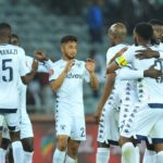 Bidvest Wits celebrate opening the scoring against Orlando Pirates.