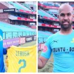 New Sundowns signings Reyaad Pieterse and Mosa Lebusa.