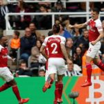 Granit Xhaka of Arsenal celebrates scoring his side's opener