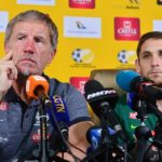 Stuart Baxter, coach of South Africa and Dean Furman