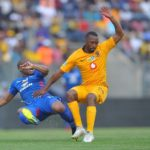 Bernard Parker of Kaizer Chiefs challenges Thuso Phala of Supersport United