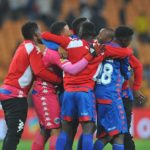Supersport United celebrate after beating Kaizer Chiefs to seal a spot in the MTN8 final.