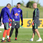 Itumeleng Khune , Ronwen Williams and Lee Baxter during training