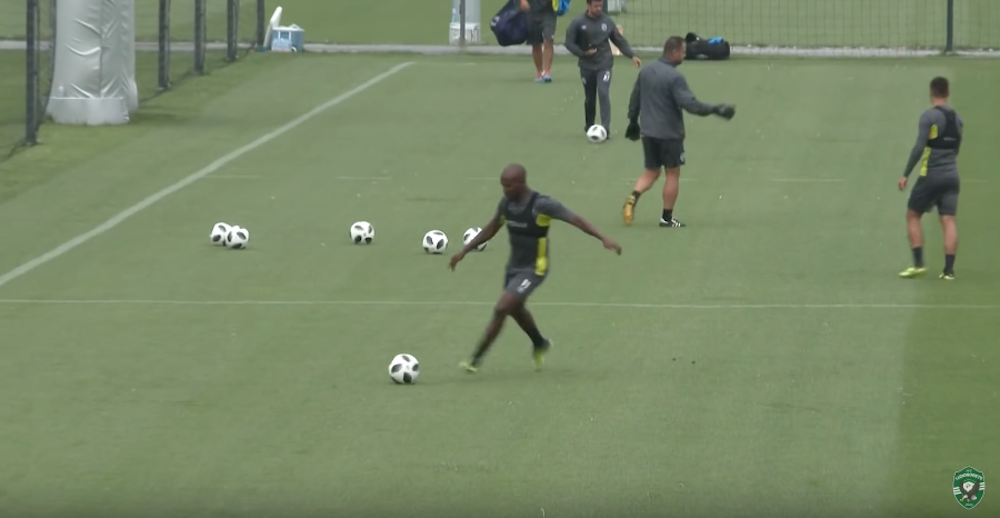 Watch: Mahlangu first training session with Ludogorets
