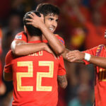 Marco Asensio and Isco of Spain.