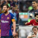 Messi compared to Ronaldo, Salah and Modric