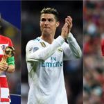Luka Modric, Cristano Ronaldo and Mohamed Salah, the three-man short list for Fifa Men's Best Player award.