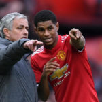 Jose Mourinho and Marcus Rashford of Manchester United.