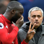Romelu Lukaku and Jose Mourinho of Manchester United.