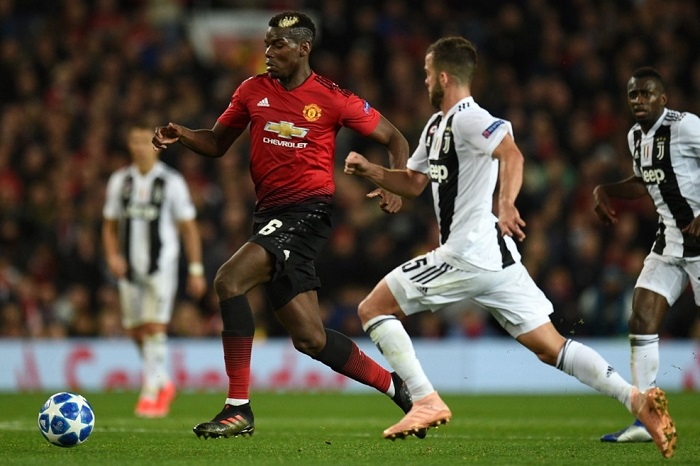 Paul Pogba of Manchester United and Miralem Pjanić of Juventus