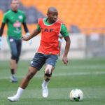 Kamohelo Mokotjo during training for Bafana Bafana