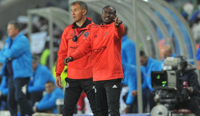 Milutin Sredojevic head coach and assistant coach Rulani Mokwena of Orlando Pirates